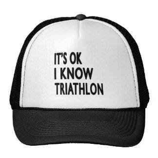 Es ACEPTABLE yo sabe Triathlon Gorras