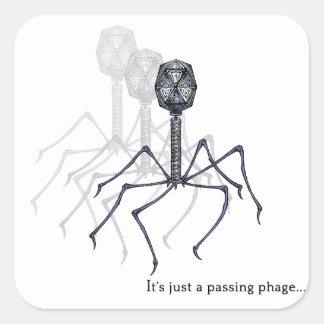 Es apenas pegatinas de paso de un fago… pegatina cuadrada