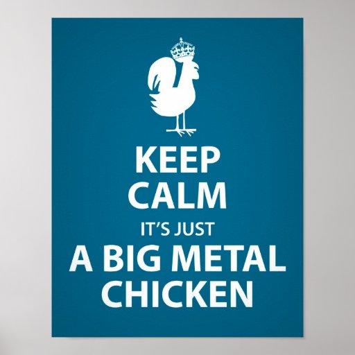 Es apenas un poster grande del pollo del metal