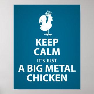 Es apenas un poster grande del pollo del metal póster