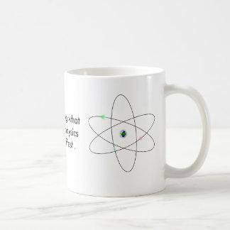 Es asombroso la qué física de quántum puede manife taza de café