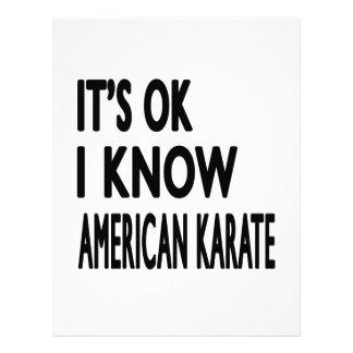 Es autorización que sé karate americano membretes personalizados