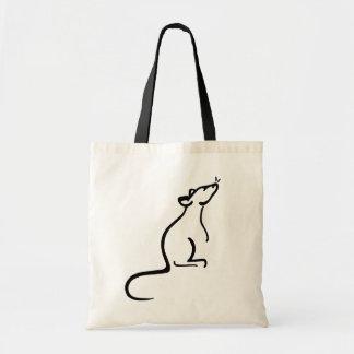 Es bolso del logotipo del mundo de una rata bolsa tela barata