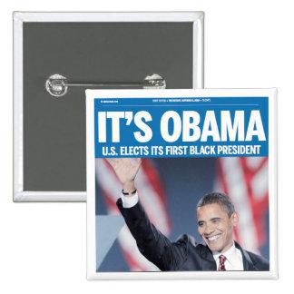 Es botón del título de Obama Pins