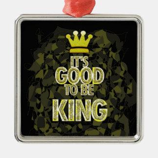Es BUENO SER rey Adorno Navideño Cuadrado De Metal