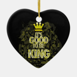 Es BUENO SER rey Adorno Navideño De Cerámica En Forma De Corazón