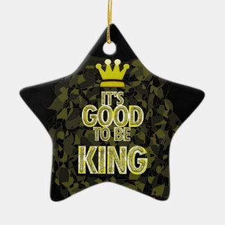 Es BUENO SER rey Adorno Navideño De Cerámica En Forma De Estrella