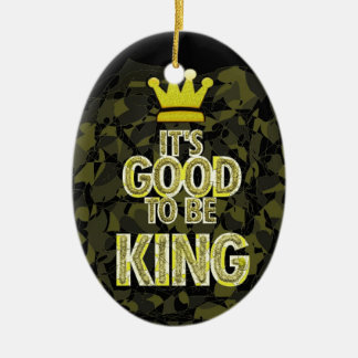 Es BUENO SER rey Adorno Navideño Ovalado De Cerámica