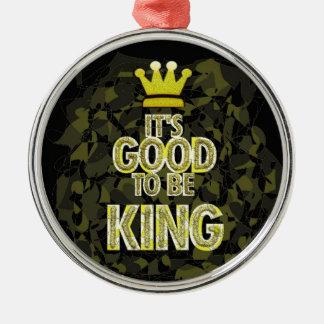 Es BUENO SER rey Adorno Navideño Redondo De Metal