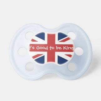 ¡Es bueno ser rey en azul Chupetes De Bebé
