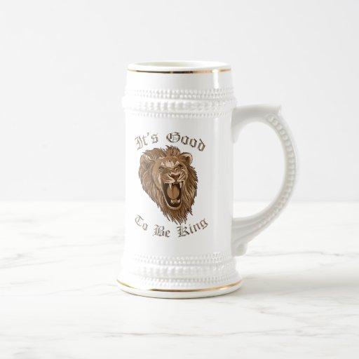 Es bueno ser rey Lion Beer Stein Taza