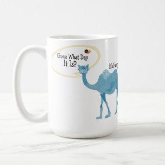 Es camello del día de chepa lindo y divertido taza clásica