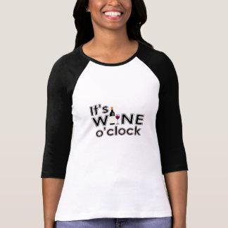 Es camiseta del en punto del vino playeras