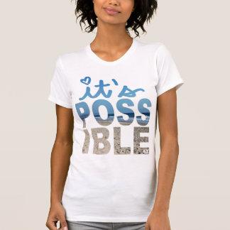 Es camiseta posible de la arena de la escritura polera