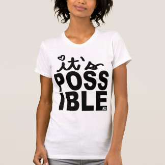 Es camiseta posible de la escritura camisas