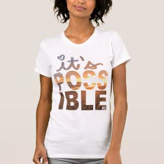 Es camiseta posible de la puesta del sol de la remeras