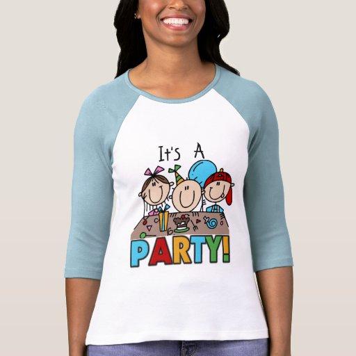 Es camisetas y regalos de una fiesta de cumpleaños playera