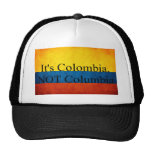Es Colombia, NO Columbia Gorras De Camionero