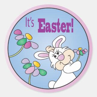 Es conejo de conejito de Pascua el | Etiquetas Redondas
