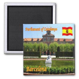 ES - Cuadrado de España - de Barcelona - de España Imán Cuadrado