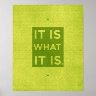 Es cuáles es - verde poster