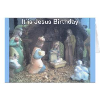 Es cumpleaños de Jesús Tarjeta De Felicitación