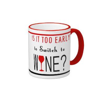 Es demasiado temprano cambiar al vino taza de dos colores