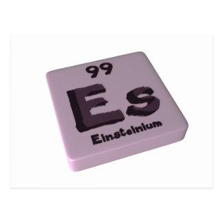 Es Einsteinium Postcard