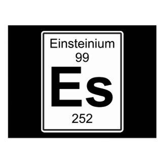 Es - Einsteinium Postcard