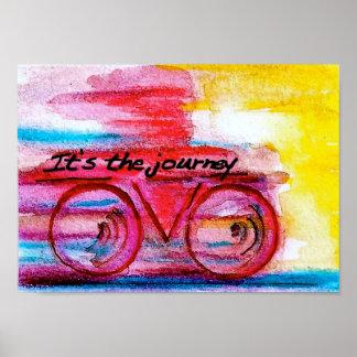 Es el arte Viaje-Original por Streater SQ Póster
