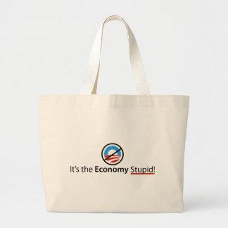 Es el bolso estúpido de la economía bolsa de mano