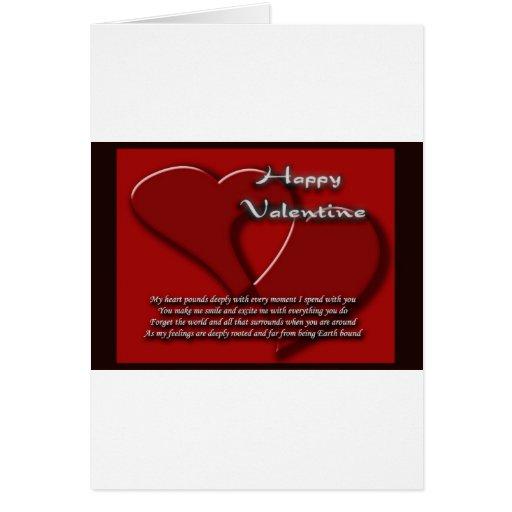 Es el el día de San Valentín 1 Tarjeta De Felicitación