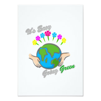 """Es el globo florido verde tolerante 2 invitación 5"""" x 7"""""""