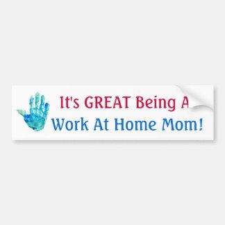 ¡Es el GRAN ser una mamá del trabajo en casa! Pegatina Para Auto
