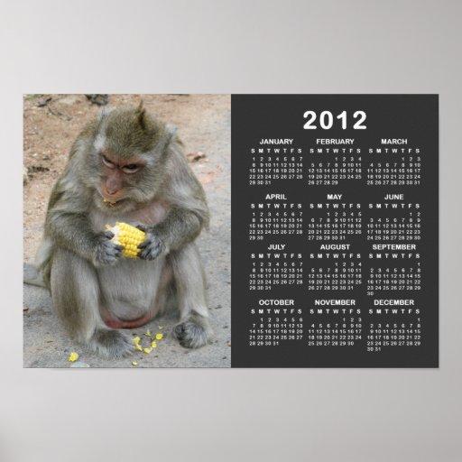 ¡Es el mío!! … Mono de Macaque tailandés salvaje Póster