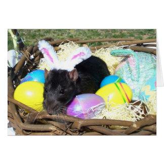 Es el mundo Pascua card2 de una rata Tarjetas