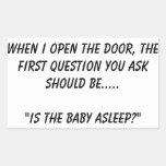 """""""Es el pegatina dormido del bebé"""""""