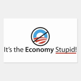 Es el pegatina estúpido de la economía
