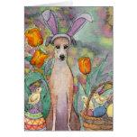 ¡Es el perro delgado de Pascua! Tarjeta de pascua