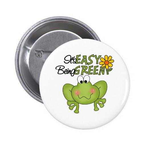Es el ser fácil botón verde pin