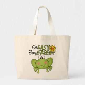 Es el ser fácil la bolsa de asas verde