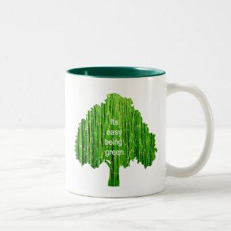 Es el ser fácil taza verde