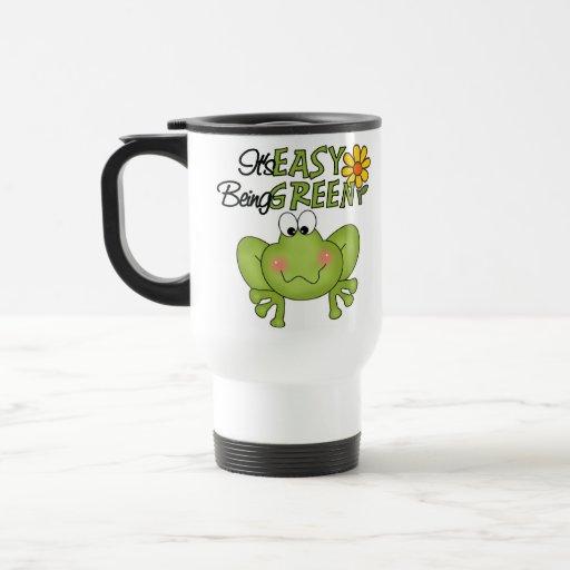 Es el ser fácil taza verde del viaje