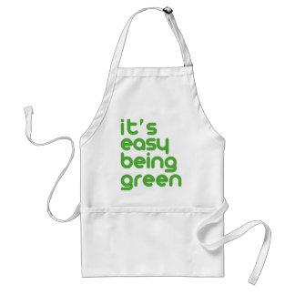Es el ser fácil verde delantal