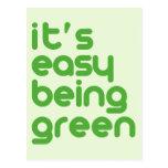 Es el ser fácil verde postal