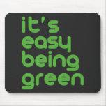Es el ser fácil verde tapete de ratones