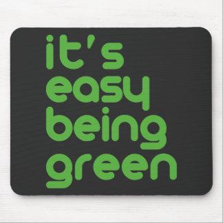 Es el ser fácil verde tapetes de ratones