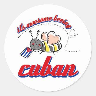 Es el ser impresionante cubano etiqueta redonda