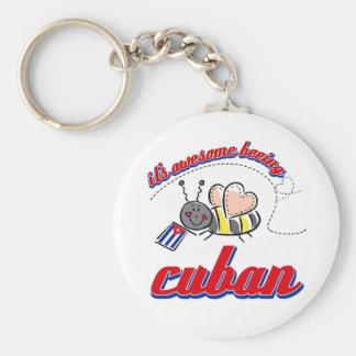 Es el ser impresionante cubano llavero redondo tipo pin