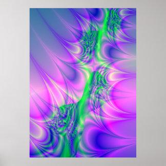 """Es eléctrico!"" Poster del arte del fractal"